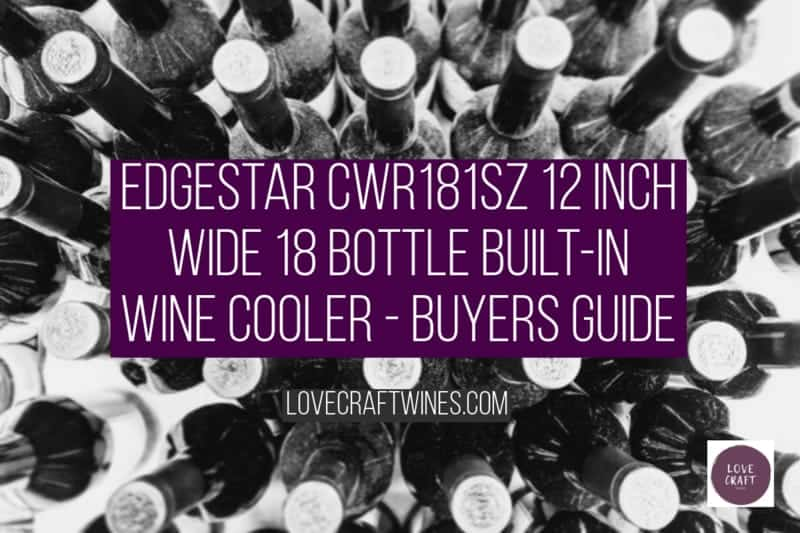 EdgeStar CWR181SZ 12 Inch Wide 18 Bottle Built-In Wine Cooler