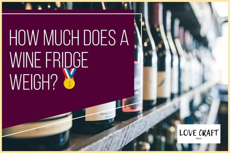 how much does a wine cooler weigh