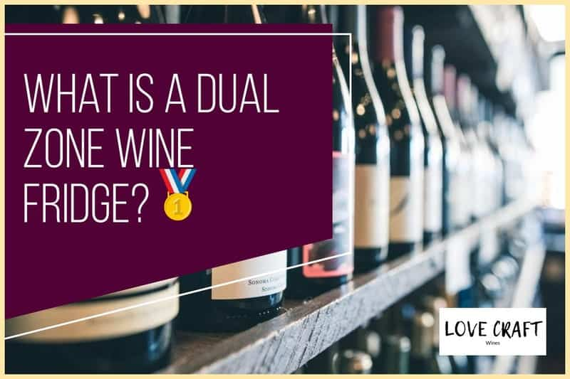 what is a dual zone wine cooler?